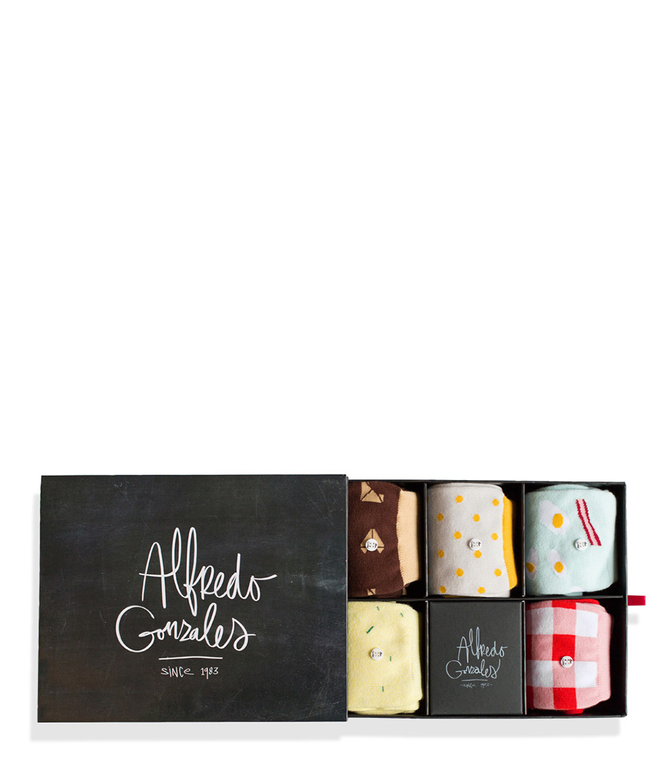 Alfredo Gonzales Sokken The Breakfast Box Geel