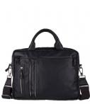Amsterdam Cowboys-Laptoptassen-Bag Branson 17 inch-Zwart