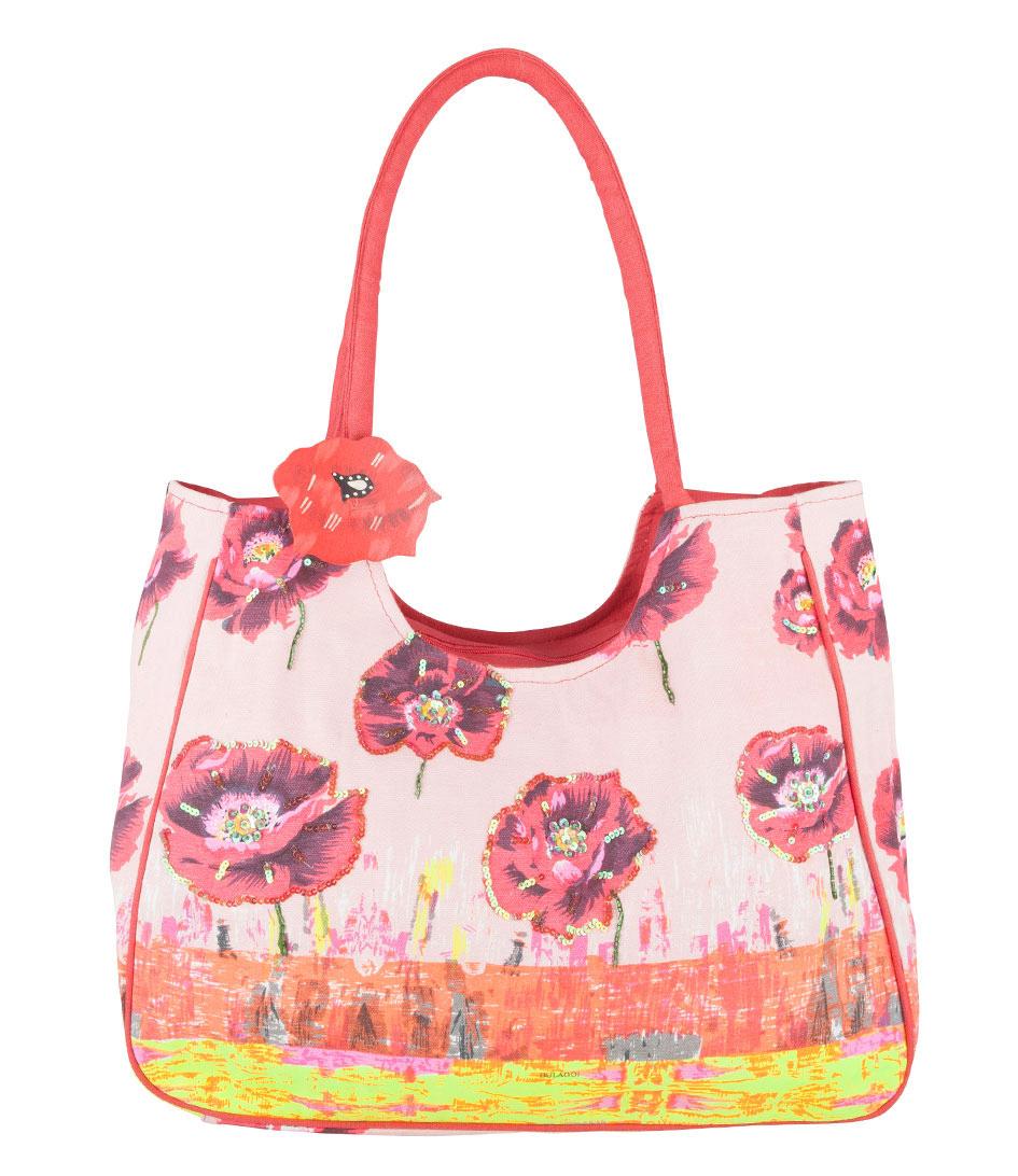 Bulaggi Strandtassen Poppy Flower Bag Roze