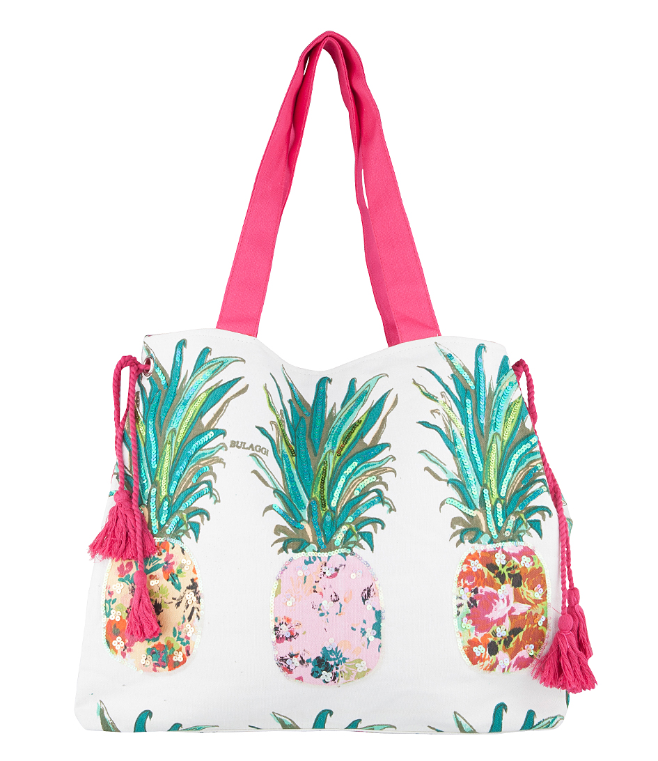Pineapple Beach Shopper wit multi Bulaggi | The Little Green Bag