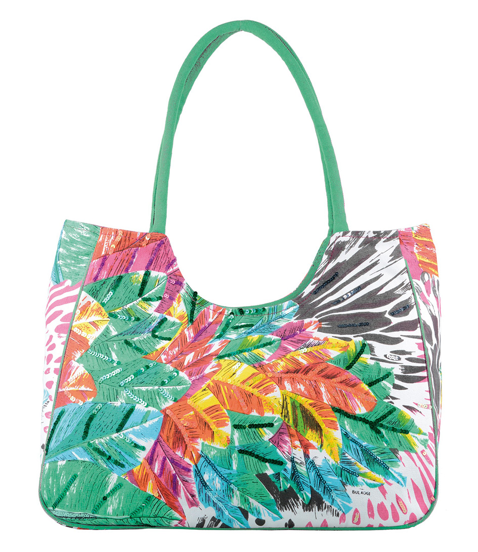 Special Beach Bag groen Bulaggi | The Little Green Bag