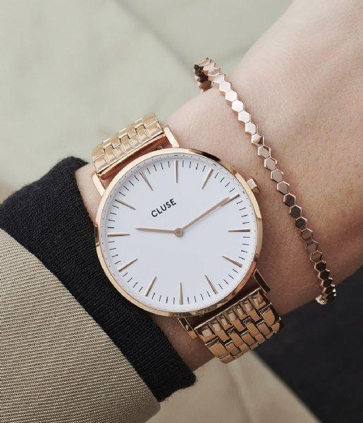 CLUSE Horloge Boho Chic Multi Link Rose Gold Plated White white rose gold plated (CW0101201024)