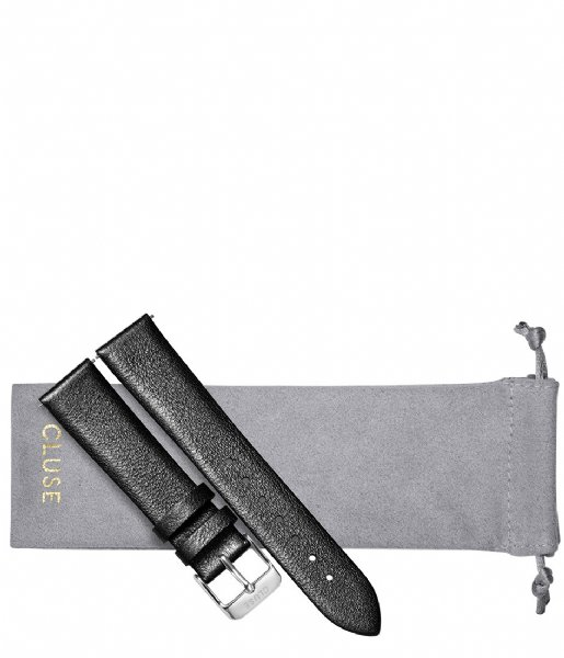 CLUSE Horlogebandje Strap Silver Colored 18 mm dark grey metallic (CS1408101059)