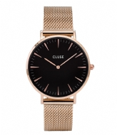 CLUSE Boho Chic Mesh Rose Gold Plated Black rose gold plated black rose gold (CW0101201003)