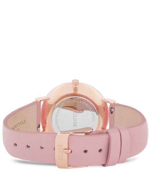 CLUSE Horloge Boho Chic Leather Rose Gold Plated White rose gold white pink (CW0101201012)