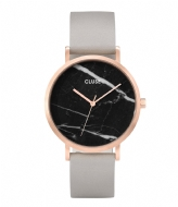 CLUSE La Roche Rose Gold Plated Black Marble black marble grey (CL40006)