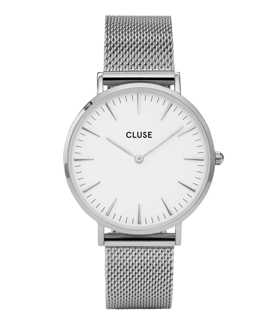 CLUSE Horloges La Boheme Mesh Silver Zilver