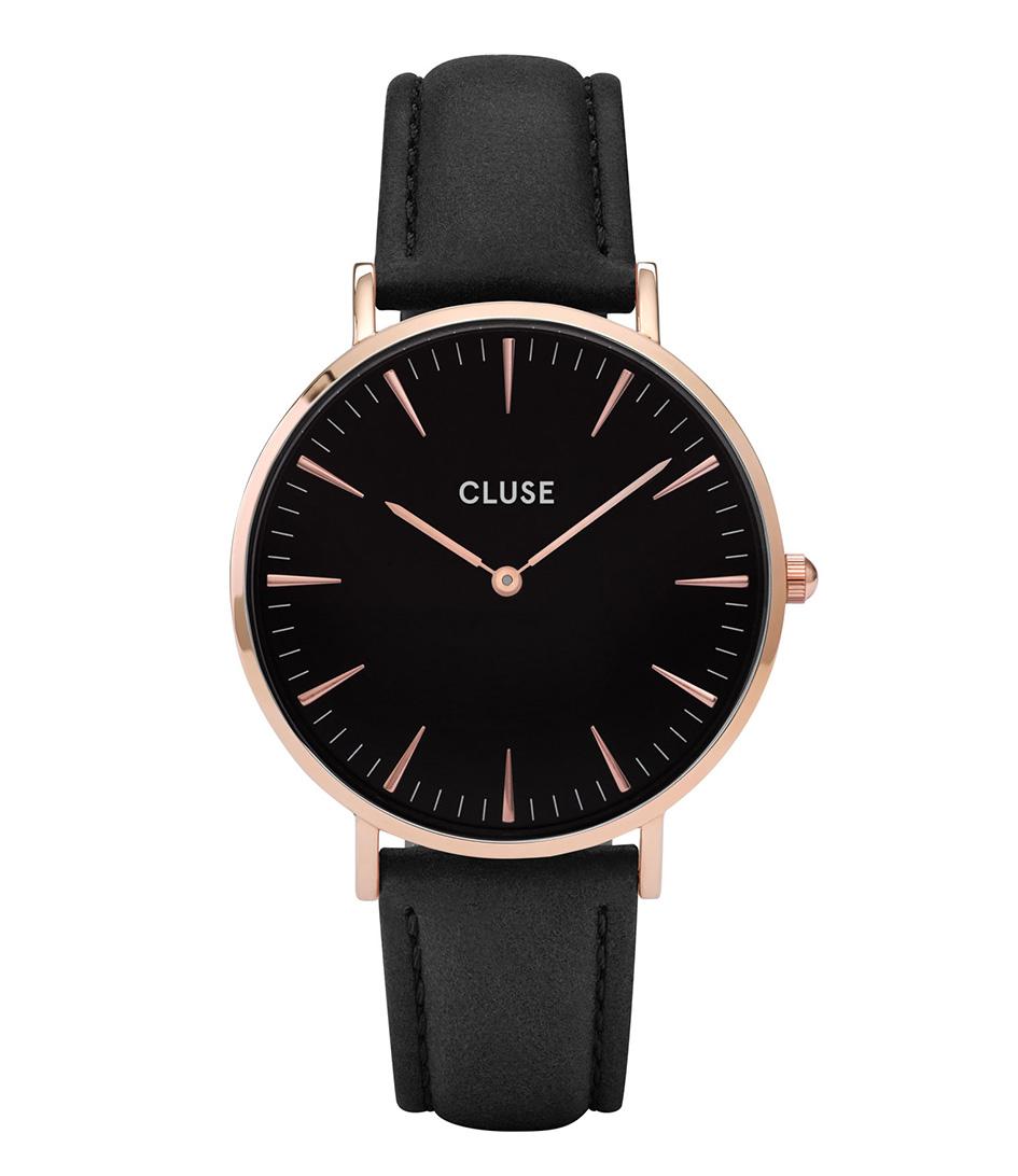 CLUSE Horloges La Boheme Rose Gold Black Zwart