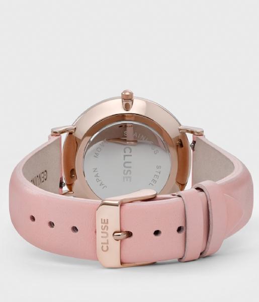 CLUSE Horloge La Boheme Rose Gold Colored White white pink (CL18014/CW0101201012)