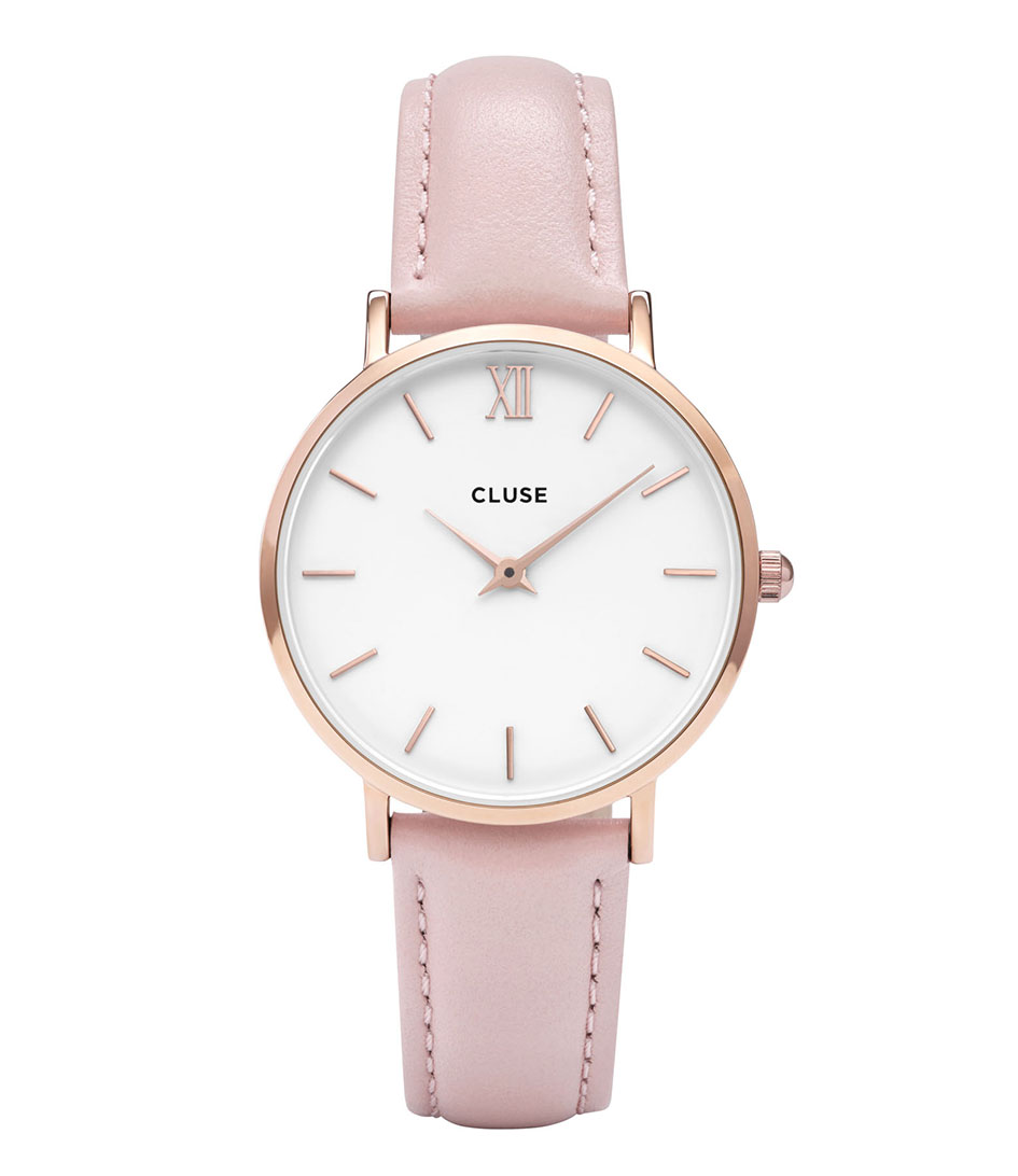 CLUSE Horloges Minuit Rose Gold White Roze