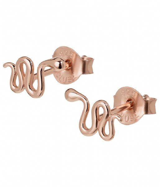 CLUSE Oorbellen Force Tropicale Snake Stud Earrings rose gold plated (CLJ50020)