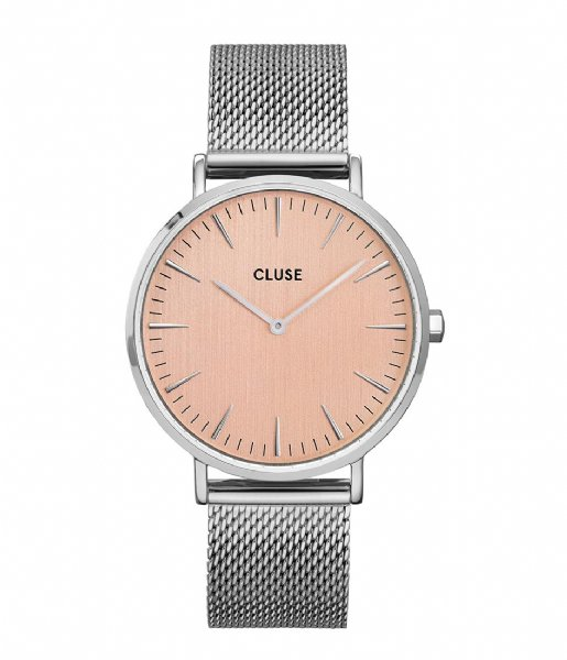 CLUSE Horloge Boho Chic Mesh Silver Colored rose gold colored (CW0101201026)