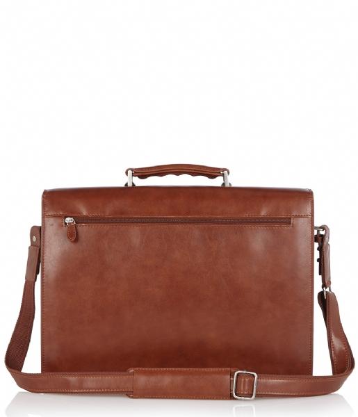Castelijn & Beerens Handtas Realtà Laptop Bag 15.4 inch cognac