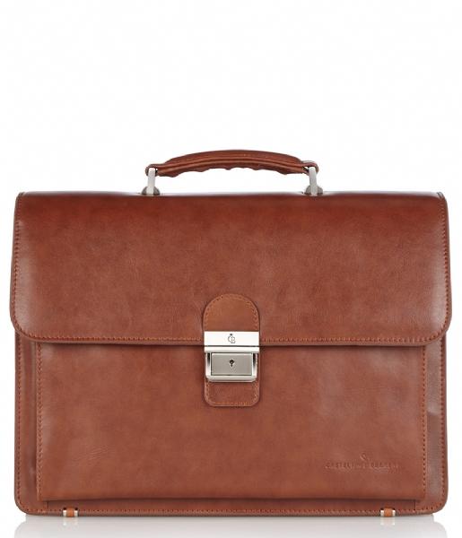 Castelijn & Beerens Handtas Realtà Laptop Bag 13.3 inch cognac