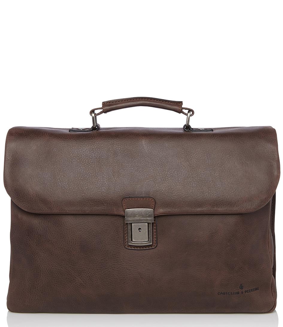 Castelijn & Beerens Laptoptassen Carisma 15.6 inch laptoptas Bruin