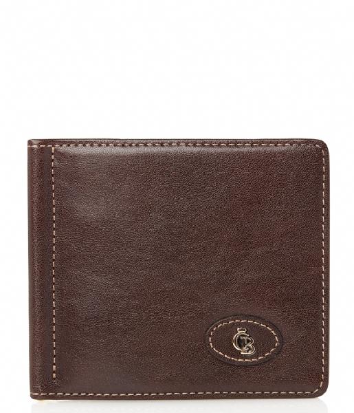 Castelijn & Beerens Bi-fold portemonnee Gaucho Dollarclip mocca
