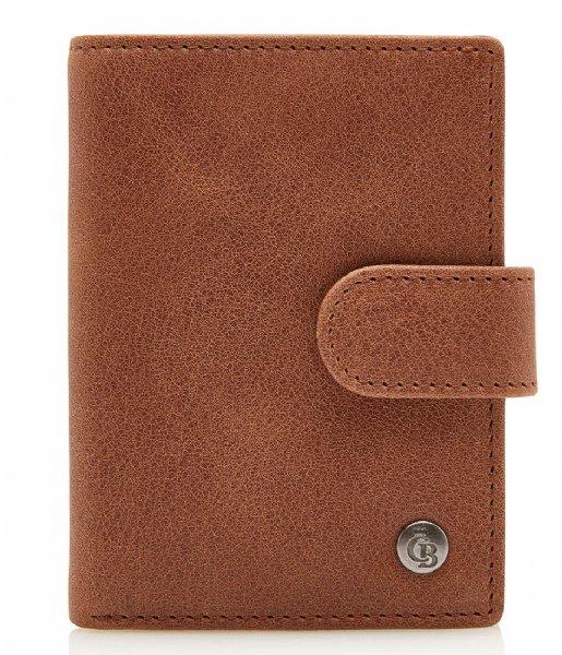 Castelijn & Beerens Bi-fold portemonnee Creditcard Etui cognac