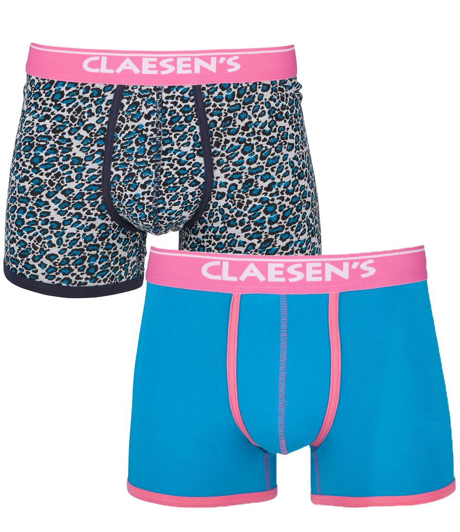 Claesens Boxershorts 2 Pack Panther Blauw