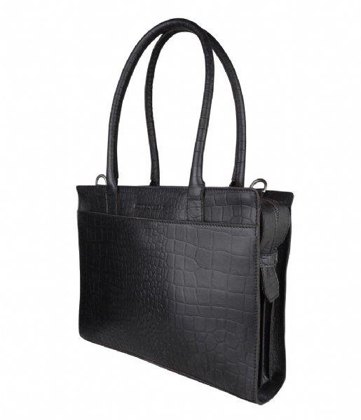 Cowboysbag Laptop schoudertas Laptop Bag Jade 13 inch X Bobbie Bodt Croco Black (106)