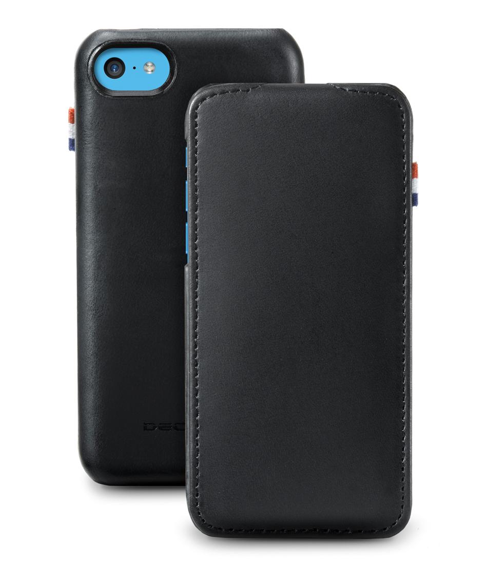 Decoded Smartphone covers Flipcase iPhone 5C Zwart