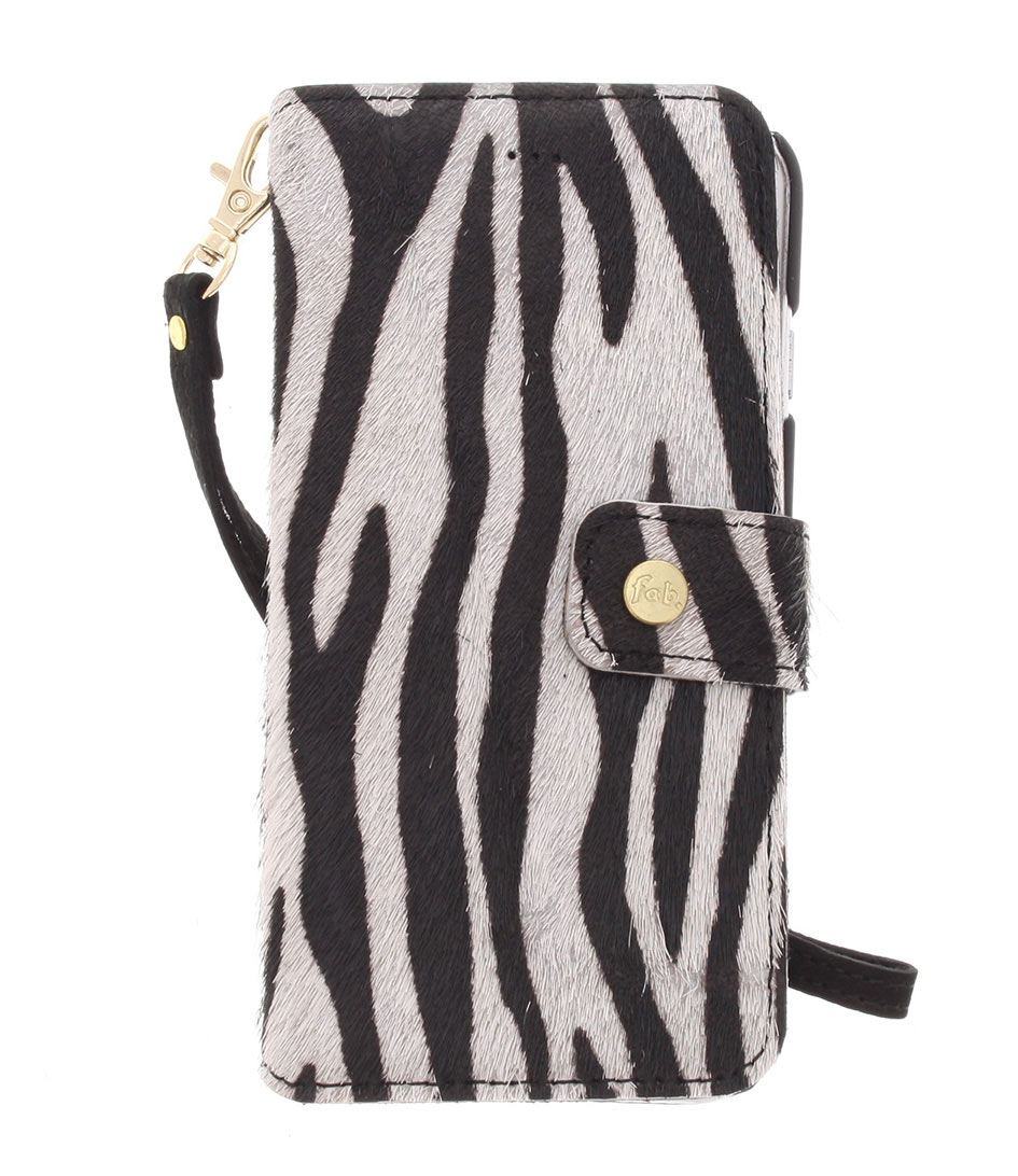 Fab Smartphone covers Crazy Zebra Booktype iPhone 6 Wit