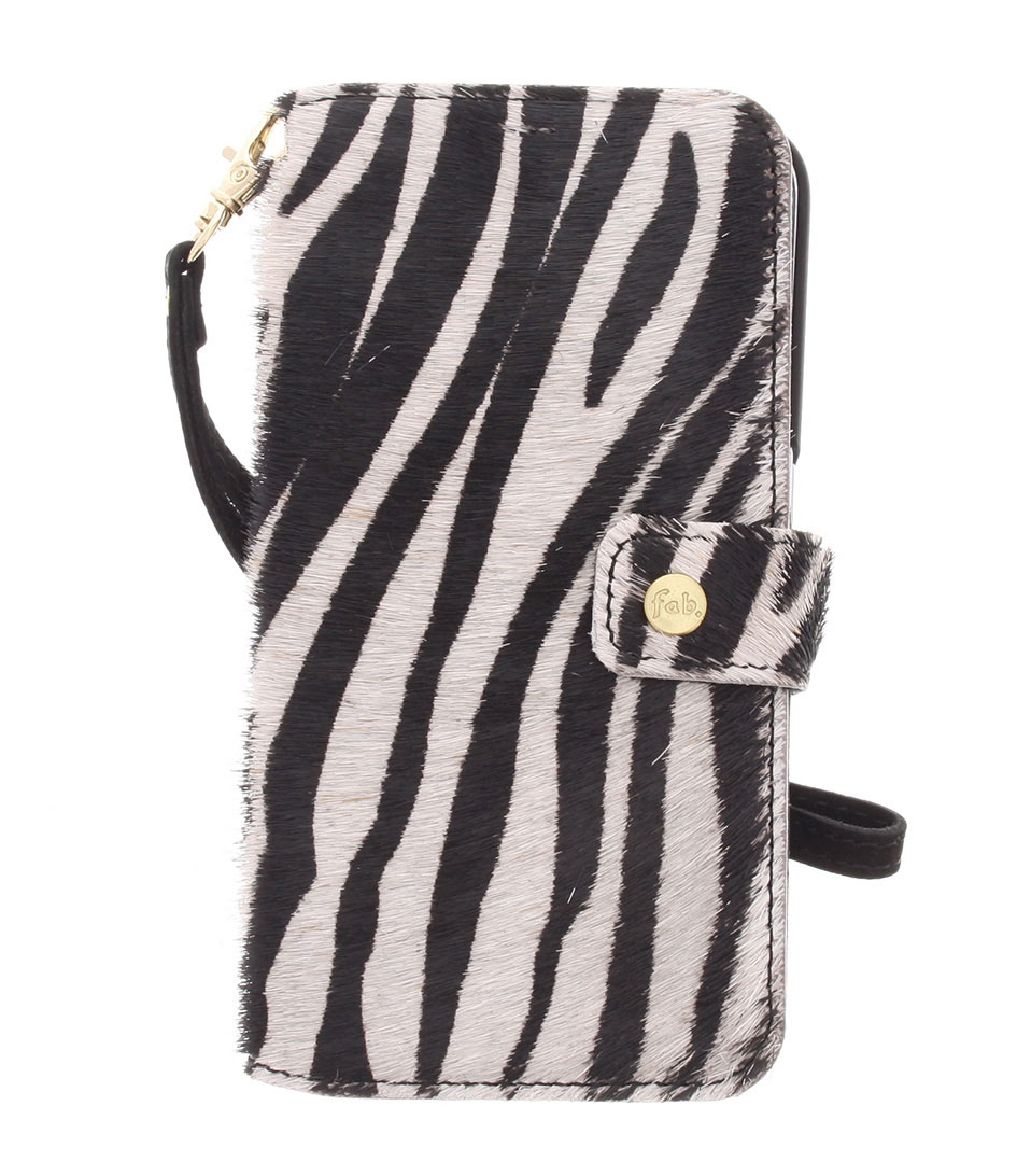 Fab Smartphone covers Crazy Zebra Booktype Galaxy S6 Wit