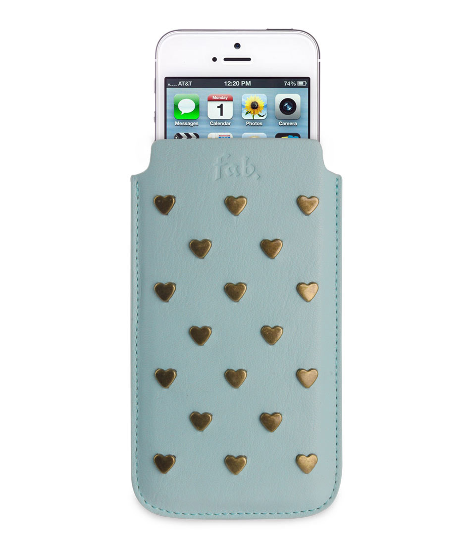 Fab Smartphone covers Medium Universal Pouch Studs Groen