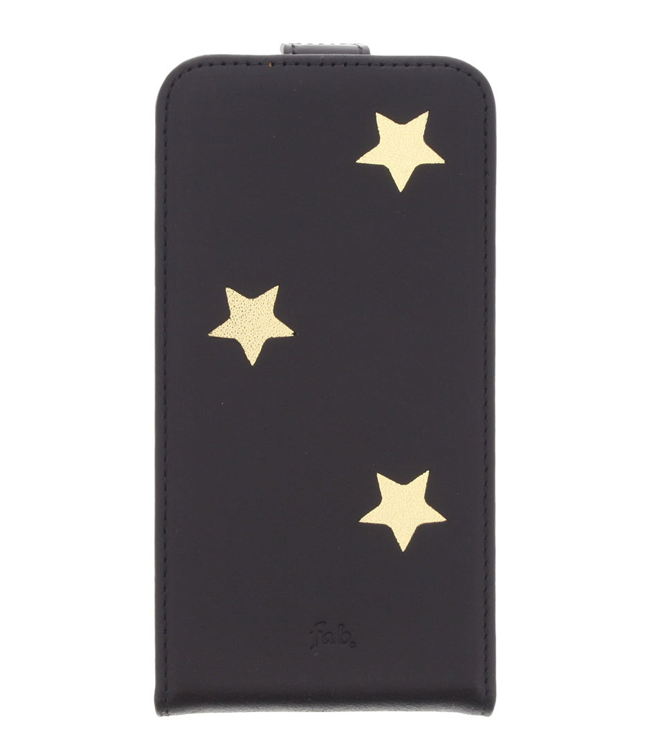 Fab Smartphone covers Gold Reversed Star Flipcase Galaxy S6 Zwart