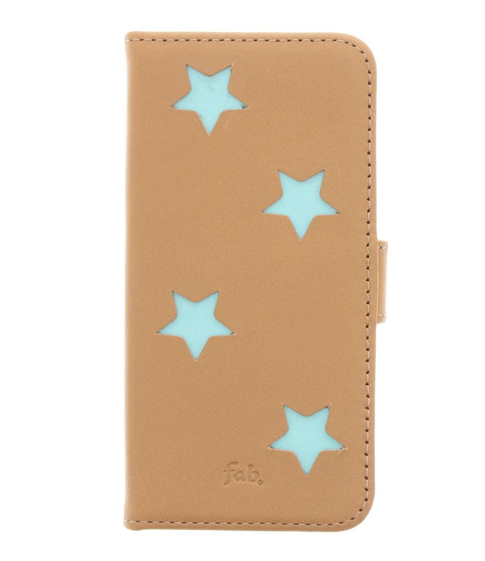 Fab Smartphone covers Aqua Reversed Star Booktype iPhone 5 Bruin