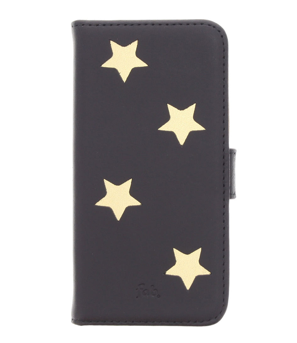 Fab Smartphone covers Gold Reversed Star Booktype iPhone 5 Goud