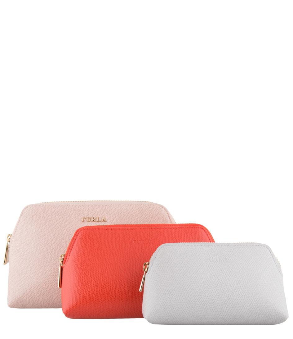 Furla Make up tasjes Isabelle Cosmetic Case Roze
