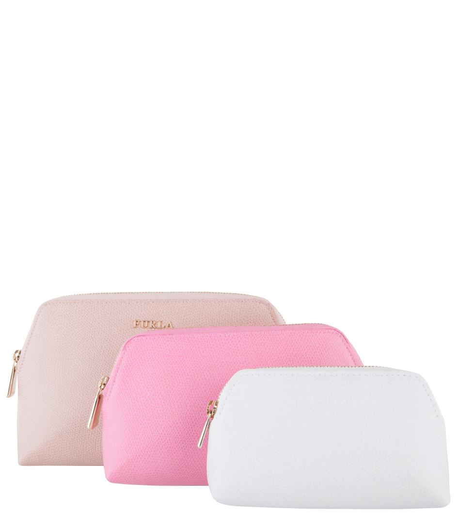 Furla Make up tasjes Isabelle Cosmetic Case Set Roze