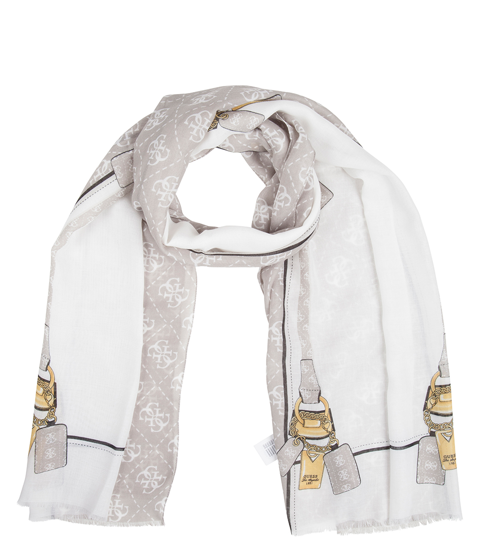 Guess Sjaals Privacy Scarf Wit