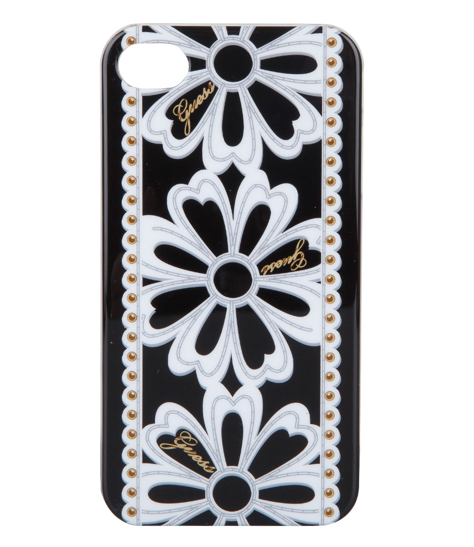 Guess Smartphone covers April Showers iPhone 4 Hard Case Zwart