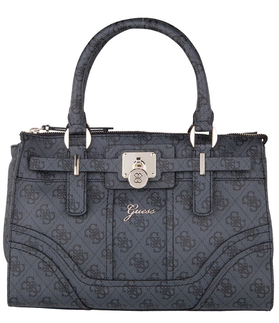Guess Handtassen Greyson Small Satchel Bag Zwart