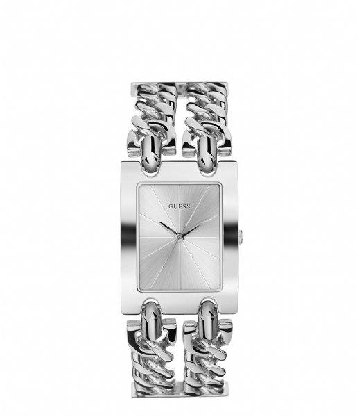 Guess Horloge Watch Mod Heavy Metal Zilverkleurig