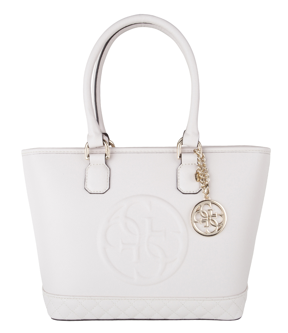 Guess Handtassen Amy Small Tote Wit