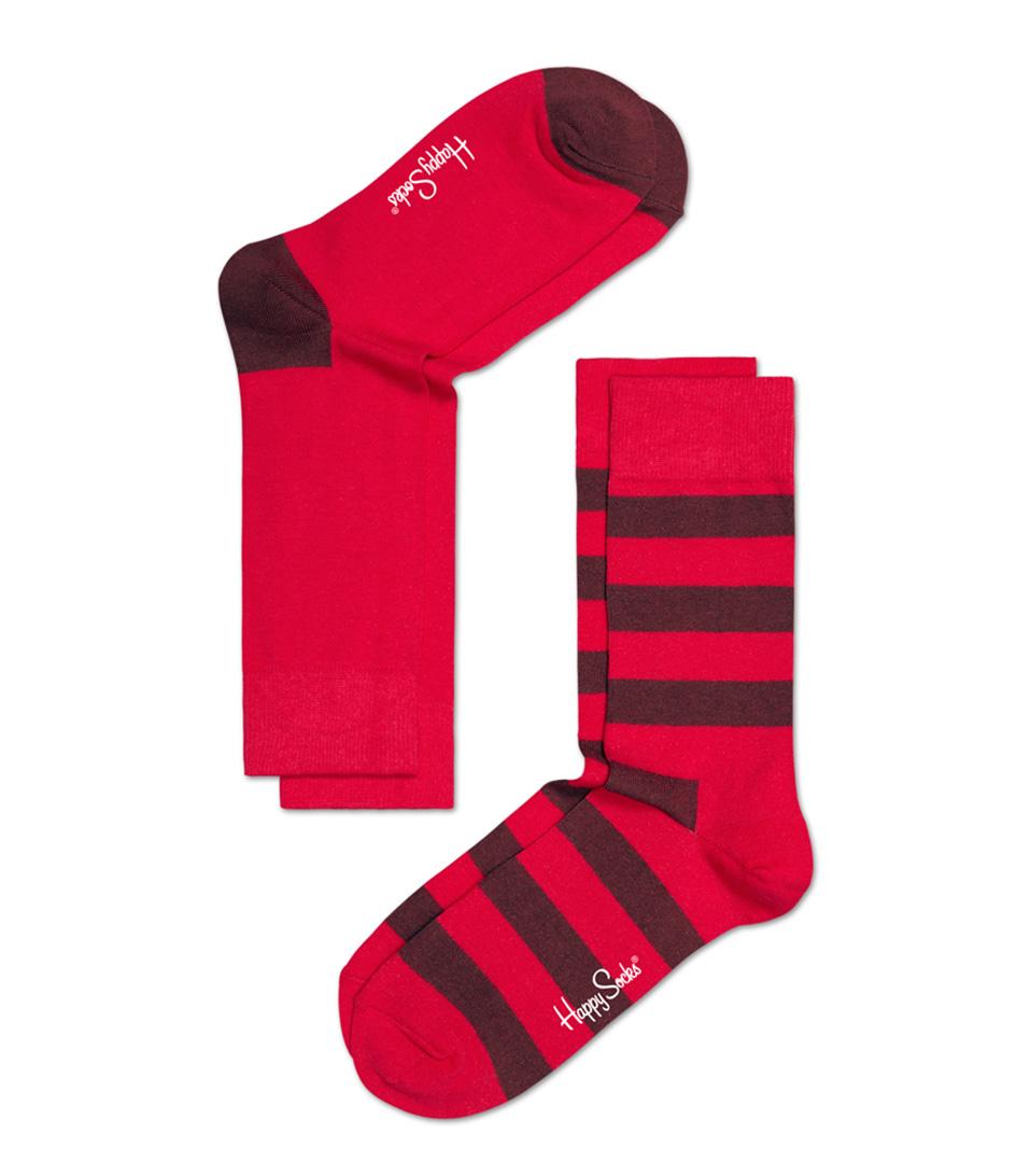 Happy Socks Sokken 2 Pack Socks Stripe Rood