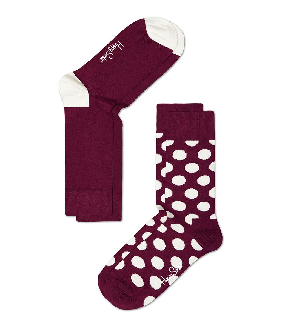 Happy Socks Sokken 2 Pack Socks Big Dot Rood