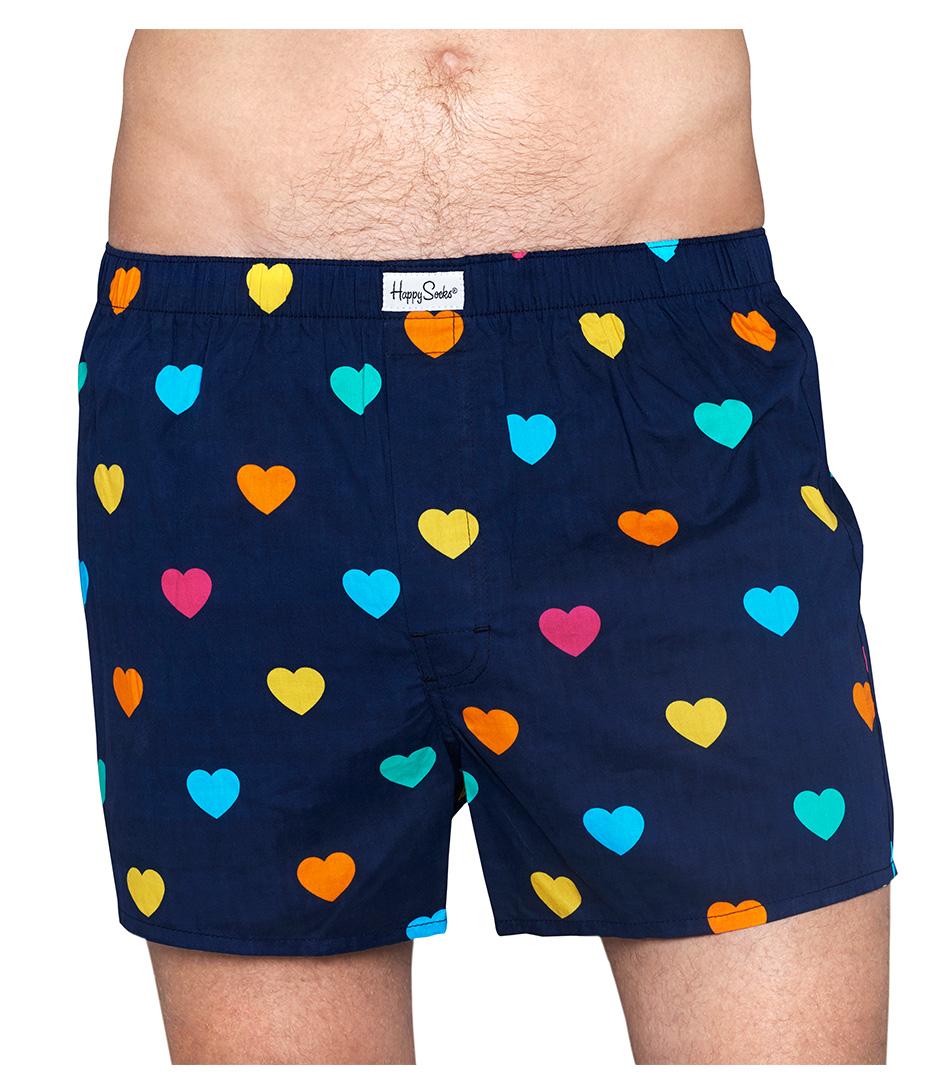 Happy Socks Boxershorts Briefs Heart Blauw