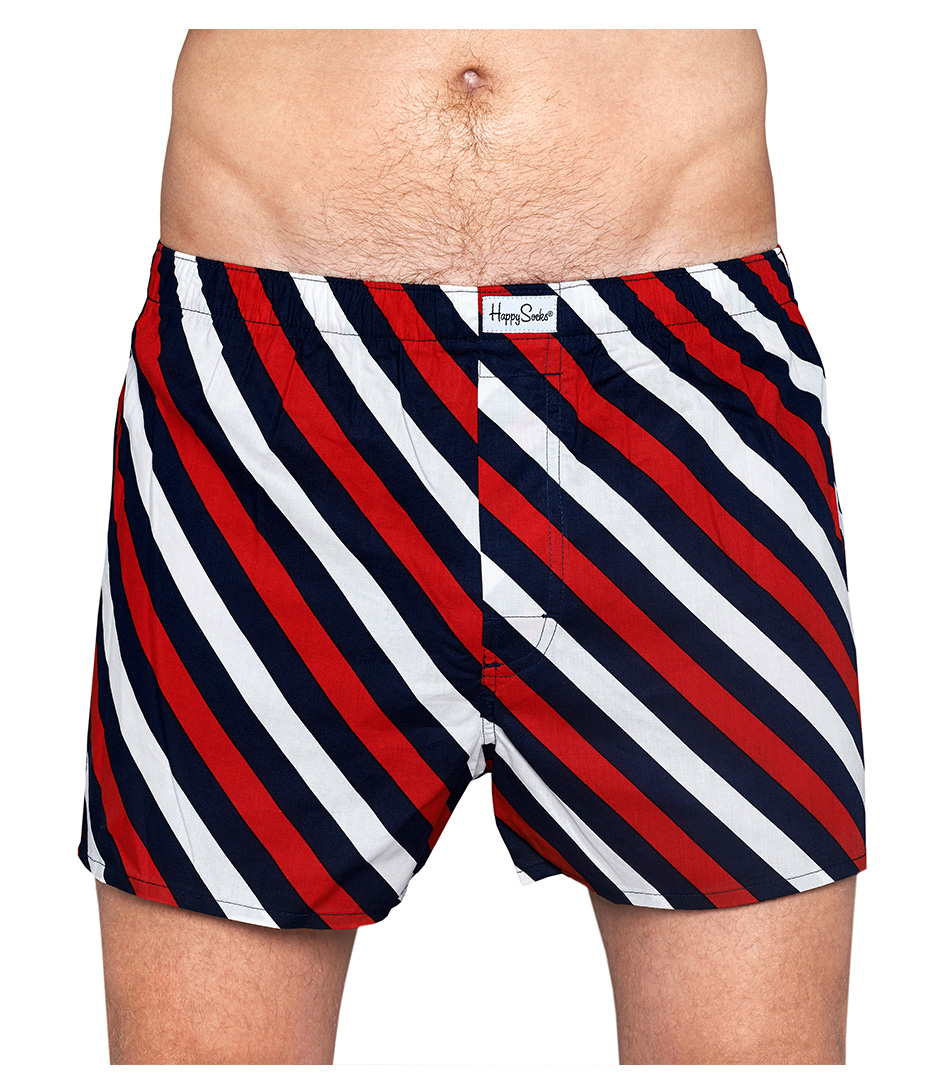 Happy Socks Boxershorts Briefs Polka Stripe Rood