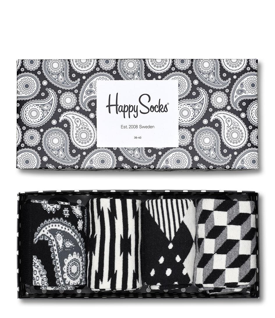 Happy Socks Sokken Paisley Gift Box Zwart