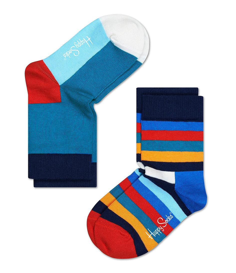 Happy Socks Sokken Kids Socks Stripe Blauw