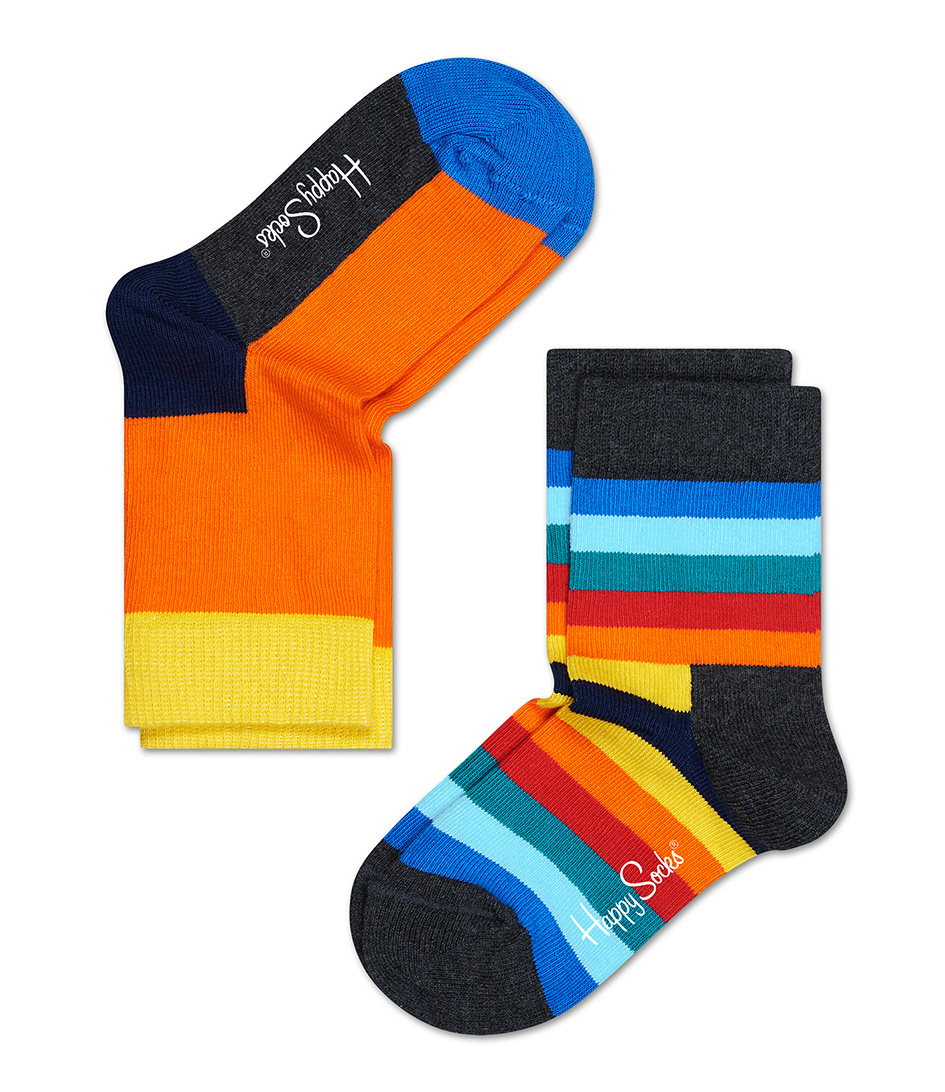 Happy Socks Sokken Kids Socks Stripe Oranje