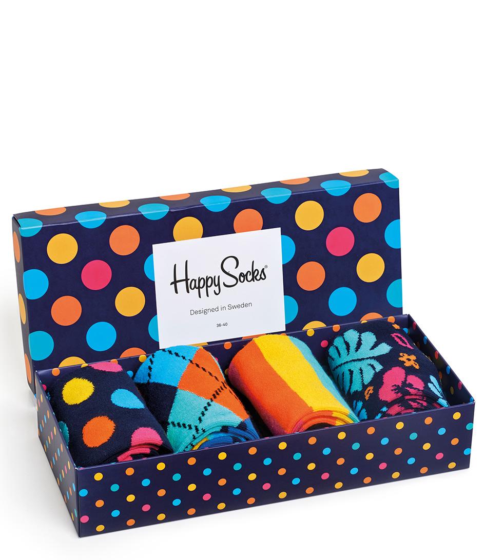 Happy Socks Sokken Big Dot Giftbox Blauw