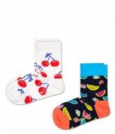 Happy Socks Kids 2 Pack Fruit Socks fruit (1300)