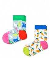 Happy Socks Kids 2 Pack Bunny Socks bunny (6000)