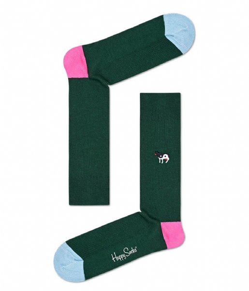 Happy Socks Sokken Ying Yang Cow Embroidery Rib Socks ying yang cow (7500)
