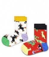 Happy Socks 2-pack Kids Dinosaur Socks dinosaur (4000)