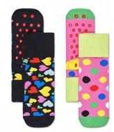 Happy Socks 2-Pack Kids Heart Anti-Slip Socks heart (9300)